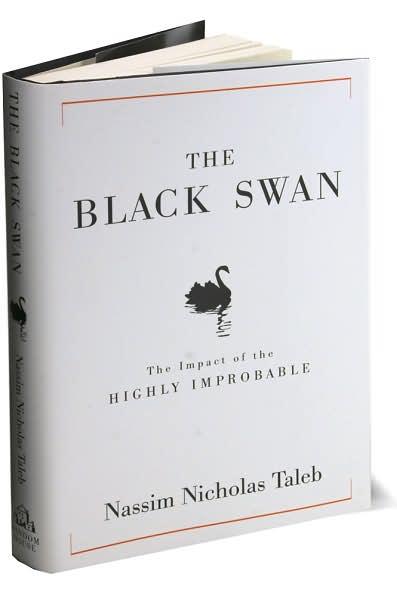 Black Swan Book Cover : The black swan nassim nicholas taleb david j p fisher