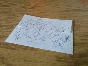 Sapporia Trattoria Letter