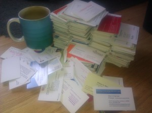 Business Card Stack