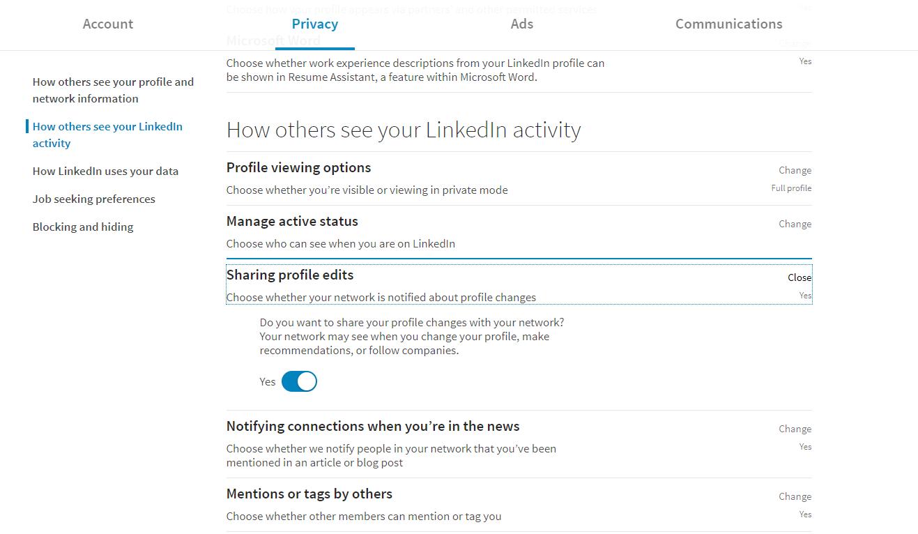 LinkedIn Activity Settings 12-2-18 - David J P  Fisher